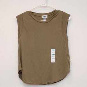Old Navy Sleeveless Olive Green Women's Tank S
